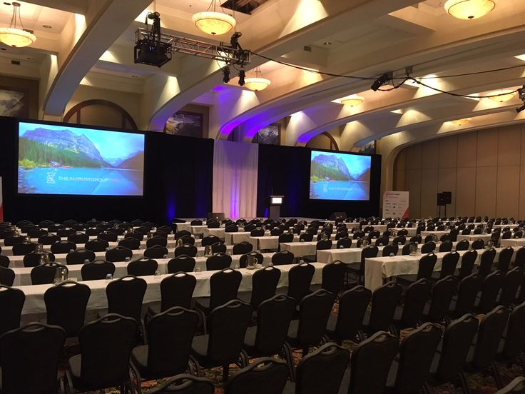 Mount Temple set up for a conference group at Fairmont Chateau Lake Louise. Lake Louise Venue | Canada | Canadian Rockies | Banff National Park | Alberta