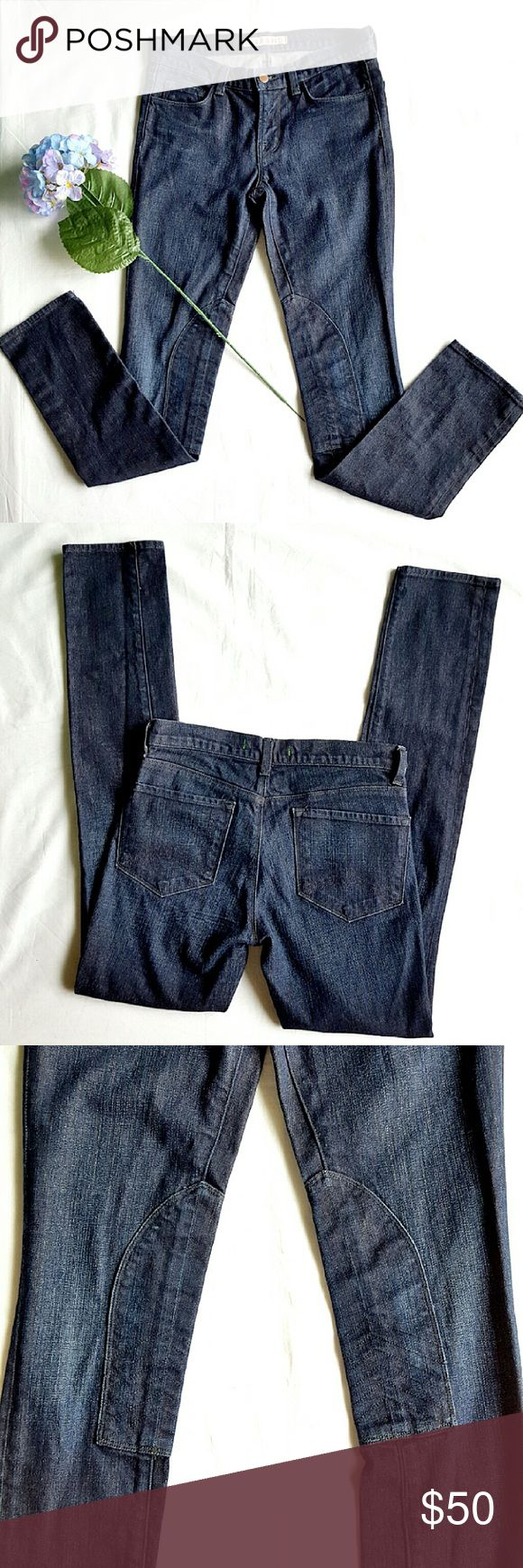 """J.Brand Skinny Jeans Style 91288 STIN in dark wash. Five pockets,  zipper closure and single button, belt loops, inside knee reinforcement patches.  98% cotton 2% elastane. 15"""" waist,  8.5"""" rise 32"""" inseam.  In excellent LIKE NEW condition. J Brand Jeans Skinny"""
