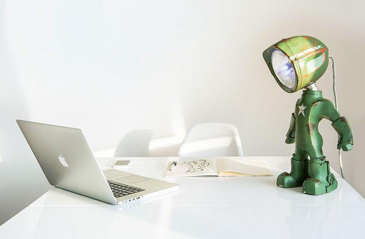 This new robot lamp has a bit of an attitude