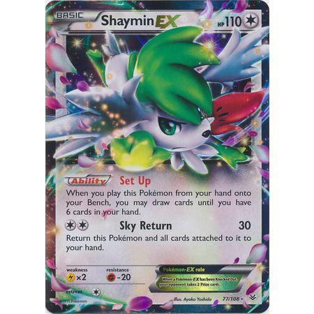 Pokemon TCG XY Roaring Skies Ultra Rare 77/108 Shaymin EX Singles Unplayed NM