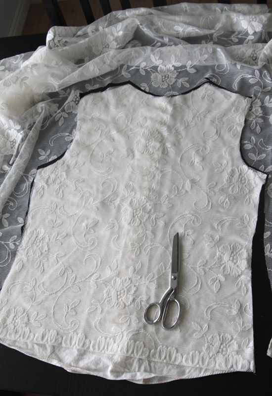 Lace Front Blouse from Men's Dress Shirt {Tutorial} | So You Think You're Crafty