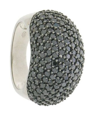 Anelli in argento con micropavè