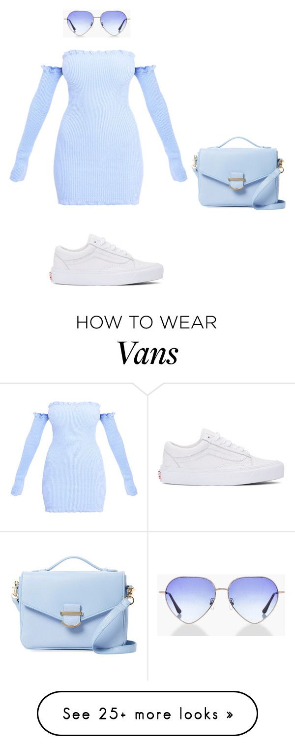"""Pöwder Blü"" by lolitsbrit on Polyvore featuring Vans, Cynthia Rowley and Boohoo"