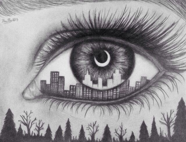 Awesome! Art / drawings / eyes / cool.me and a friend have drawn this before