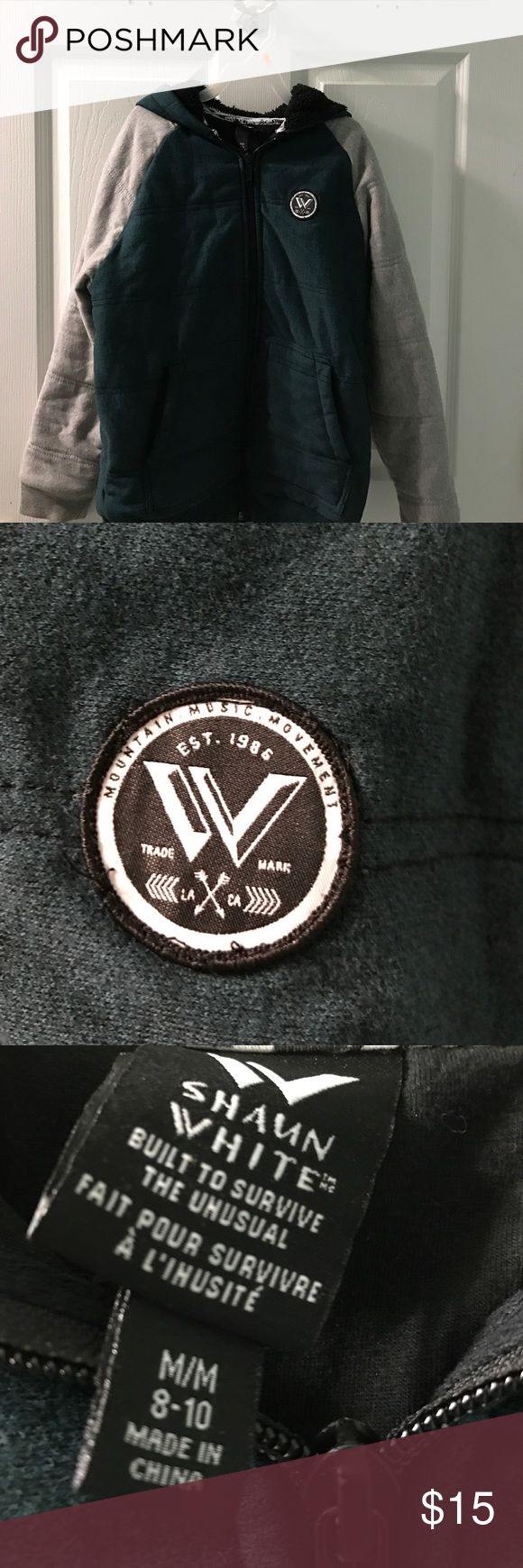 Boys gently worn Shaun white zip up hoodie Boys gently worn Shaun white zip up hoodie shaun white Jackets & Coats