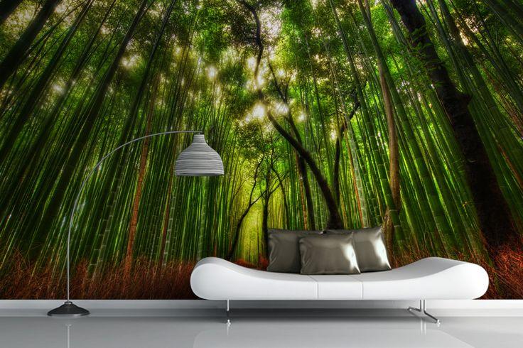 Rising Bamboo Forest Mural Wallpaper