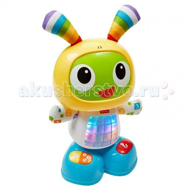 Интерактивная игрушка Fisher Price Обучающий робот Бибо Танцуй и двигайся  Обучающий робот Бибо Fisher Price  Нажмите на животик БиБо или любую кнопку на его ножках, чтобы активировать веселые песенки, обучающие фразы и мелодии, под которые можно танцевать. Эта забавная игрушка даже позволяет маме или малышу записывать фразу, из которой БиБо затем делает веселую песенку.  У игрушки три режима — Веселые танцы, Обучение и игры, Веселые песенки — так что веселой Бибо будет «расти» вместе с…