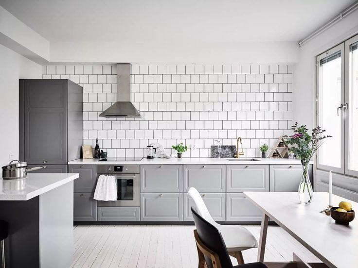 неоклассическая кухня без верхних шкафов: 8 тыс ...