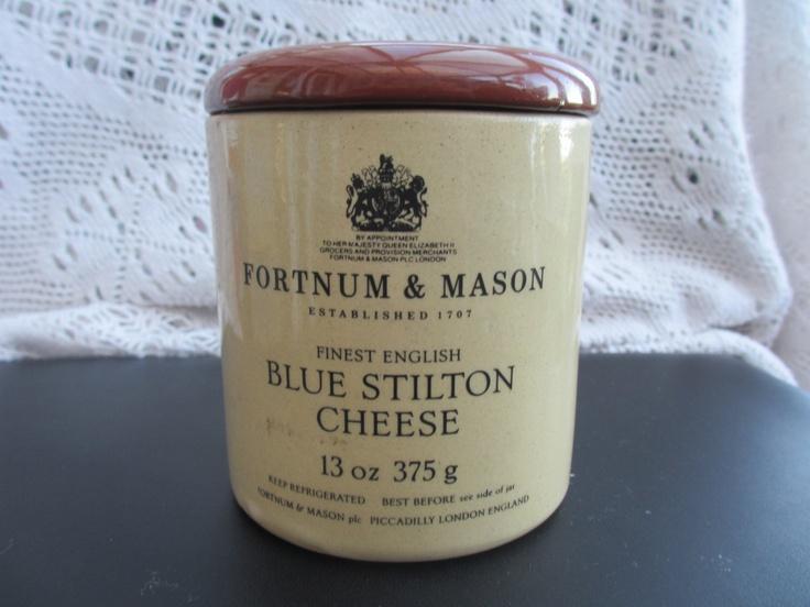 ... Fortnum & Mason Blue Stilton Cheese Jar Pot Holder RESERVED f