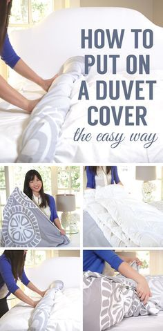 Watch and see the easiest way to put on a duvet cover!