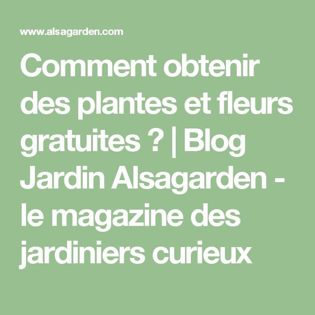 Comment obtenir des plantes et fleurs gratuites ? | Blog Jardin Alsagarden - le magazine des jardiniers curieux