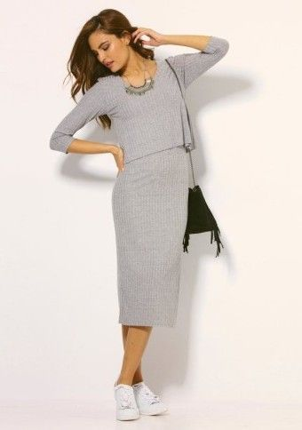Dlhé šaty s efektom 2 v 1 #modino_sk #modino_style #casual #street #casuallook #dress