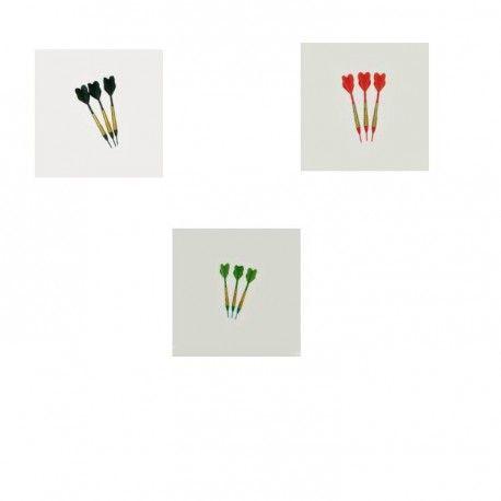 Fléchettes standards 3 vertes 3 noires 3 rouges - 13,00 €  #Jeux #Flechettes