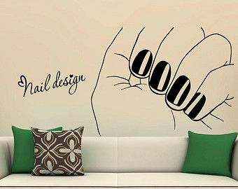 Custom Name Wall Decals Nail Polish Fashion by DecalMyHappyShop