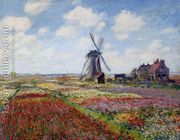 Field Of Tulips In Holland by Claude Oscar Monet