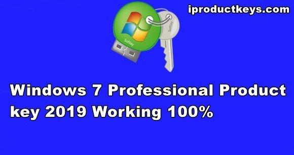 Working Windows 7 Professional Product Key Free 32 64 Bit 2019 Windows Key Professional