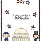 Freebie: This cute Presidents Day poem is available in color and black