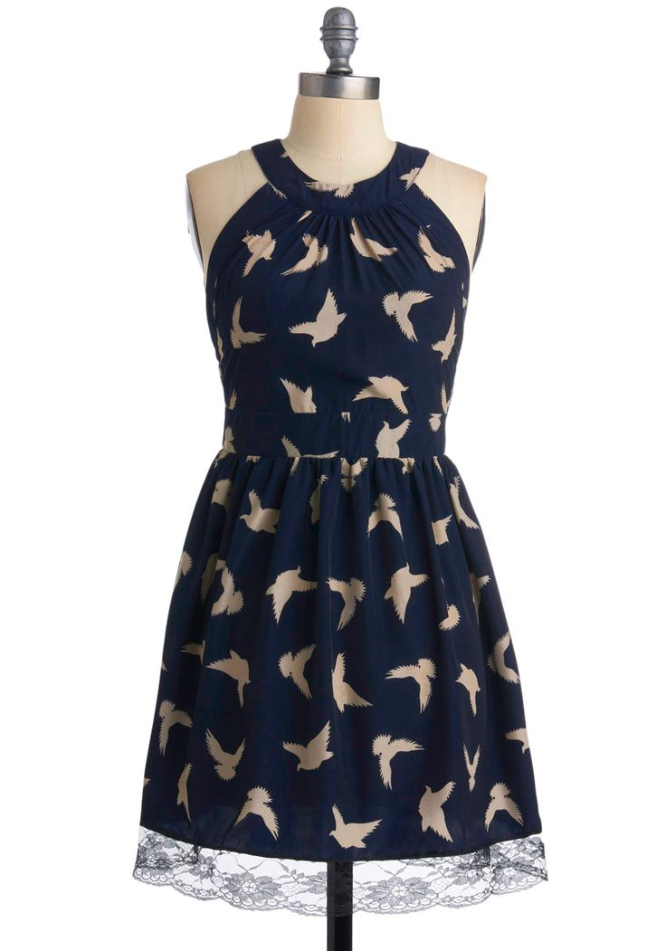 Bird Print Dress. The back is different, click and see.