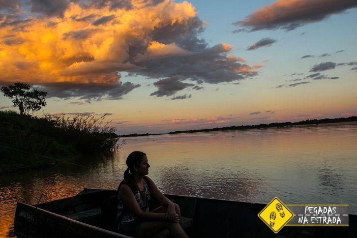 Pôr do sol no Velho Chico. Foto: Amilton / Blog Pegadas na Estrada