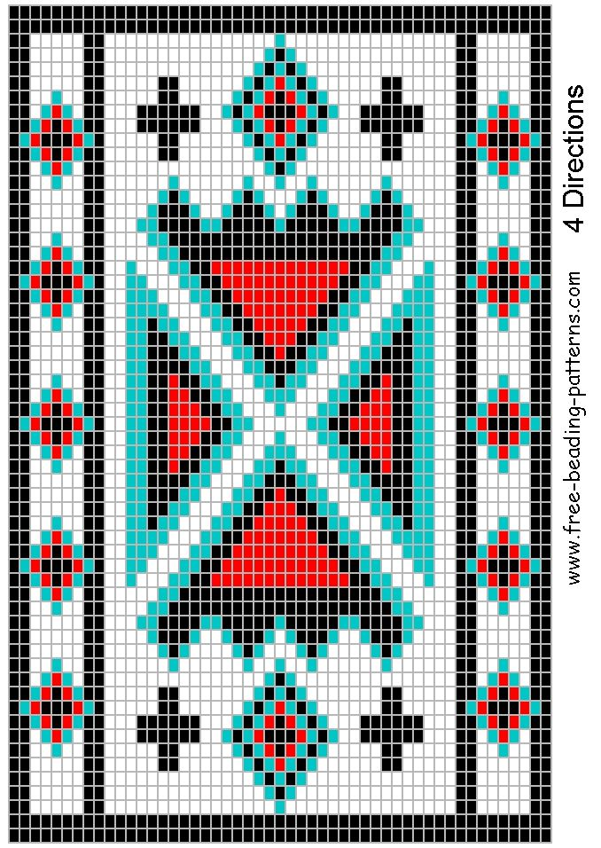 Free Native American Beadwork Patterns | Re:Possibles Bags (Information for those just starting out)