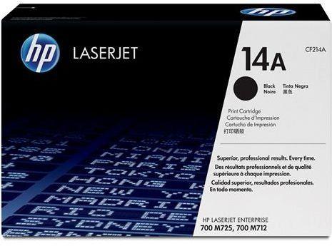 HP CF214A ORIGINAL BLACK SMART TONER CARTRIDGE has 10000 page yields while the High capacity HP cf214X has 17500 page yields  THIS CARTRIDGE IS COMPATIBLE WITH FOLLOWING PRINTERS  HP LaserJet Enterprise 700 M712dnHP LaserJet Enterprise 700 M712xhHP LaserJet Enterprise MFP M725dnHP LaserJet Enterprise MFP M725fHP LaserJet Enterprise MFP M725zHP LaserJet Enterprise MFP M725z+