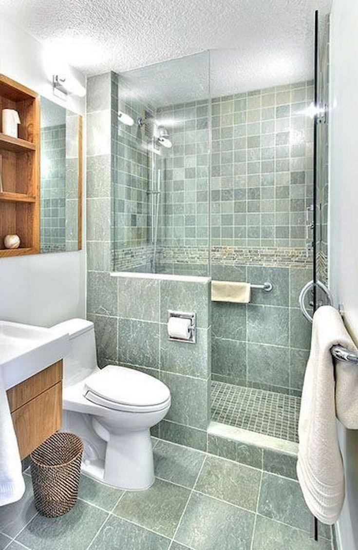 75+ Beautiful Small Bathroom Shower Remodel Ideas | Small ... on Modern:kkgewzoz5M4= Small Bathroom  id=15713