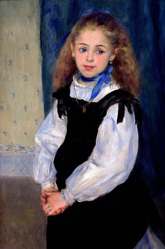 This little girl (Renoir) drew me from across the large gallery at the Philadelphia Art Museum. She was so beautiful and wistful-looking I stood there wishing I could put my arms around her and take her home...