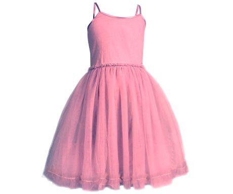 Princess Tulle Dress, Old Rose, Size 6-8