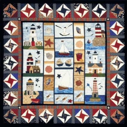 115 best Quilts - Lighthouses / Nautical images on Pinterest ... : nautical quilt blocks - Adamdwight.com