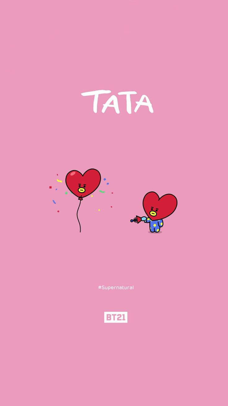 BTS | BT21 Wallpaper | TATA | pls make sure to follow me before u save it ☆ pls take out w/ full credits ♡ find more on my account ☆ #BTS #BT21 #UNIVERSTAR