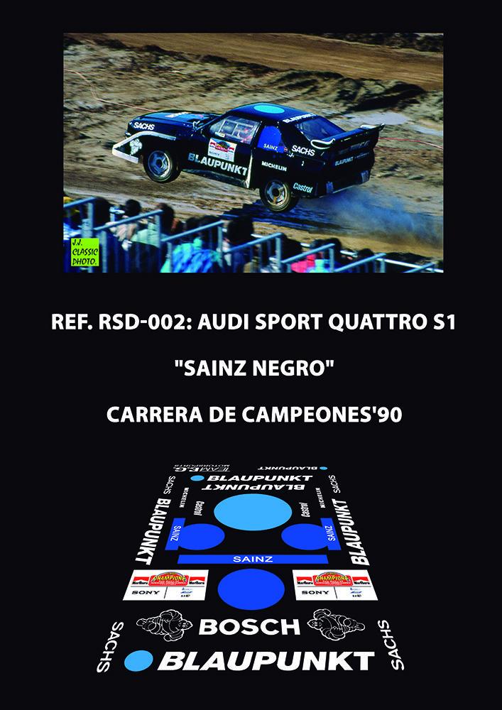 Ref. RSD-002 - Audi S1 (Negro/Black) - Sainz ROC'90