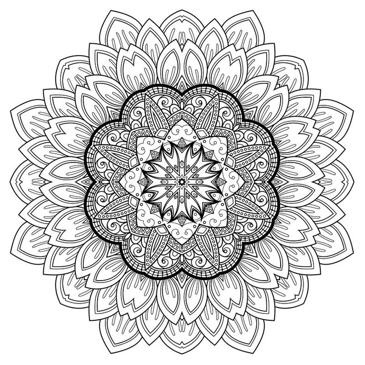 93 Mystical Mandala Coloring Book Download