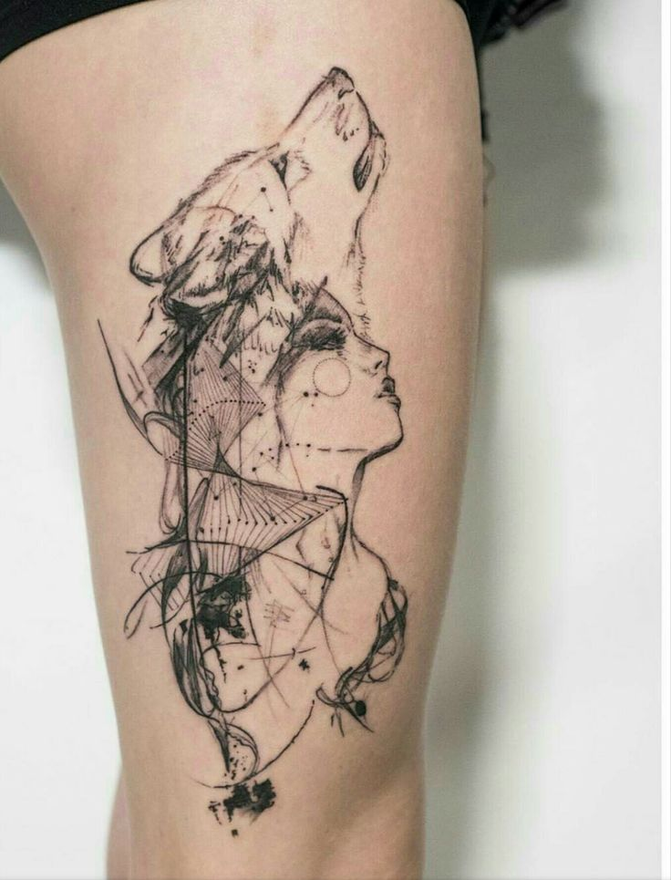 Image result for wolf girl tattoo