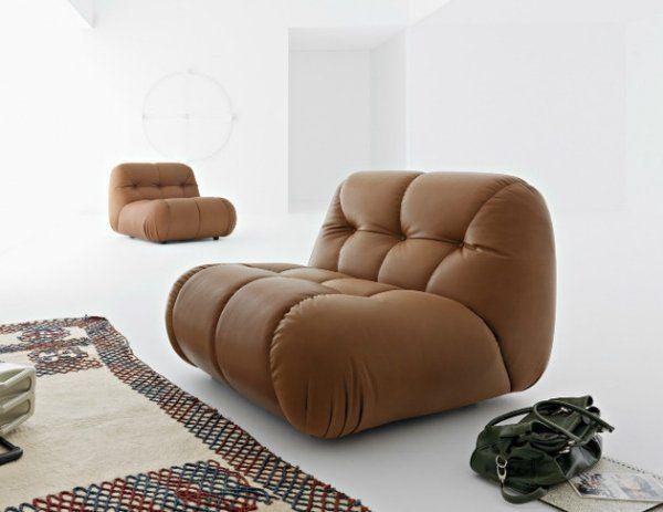 Nuvolone современный кожаный угловой диван дизайн глубокий тафтинговых дизайн-группа Mimo
