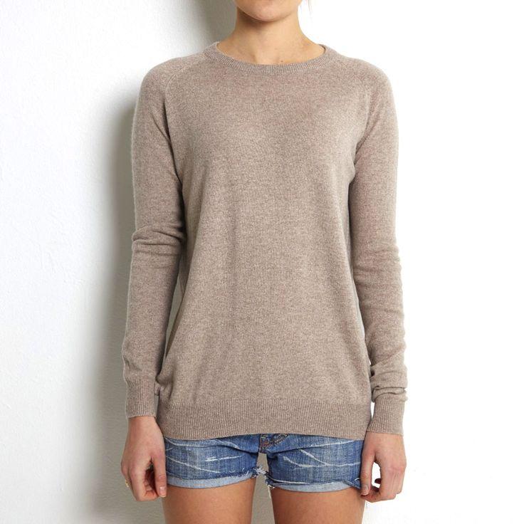 Loosefit sweater beige cashmere www.wildwool.no