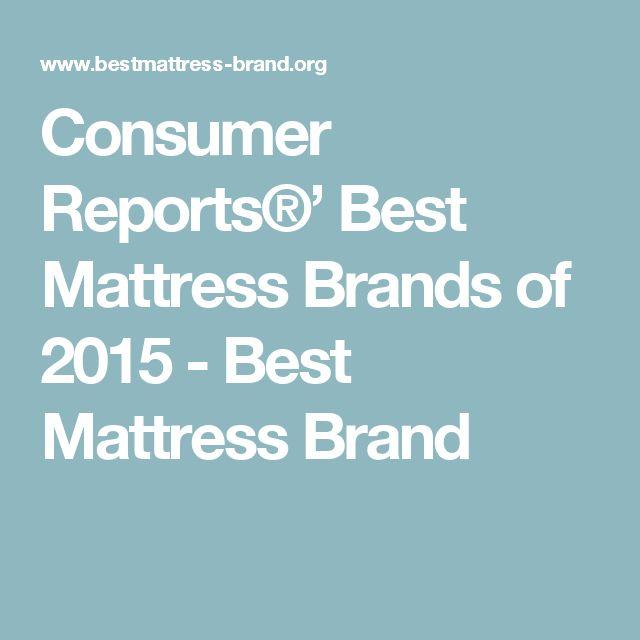 Consumer Reports®' Best Mattress Brands of 2015 - Best Mattress Brand
