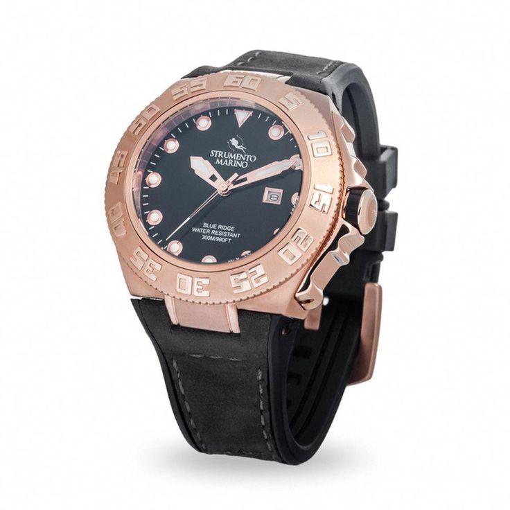 Strumento Marino Blue Ridge Rose Gold Diver Watch