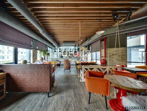 Restaurant with open kitchen