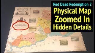 Red Dead 2 World Map.Red Dead Redemption 2 Physical World Map Zoomed In Hidden Details