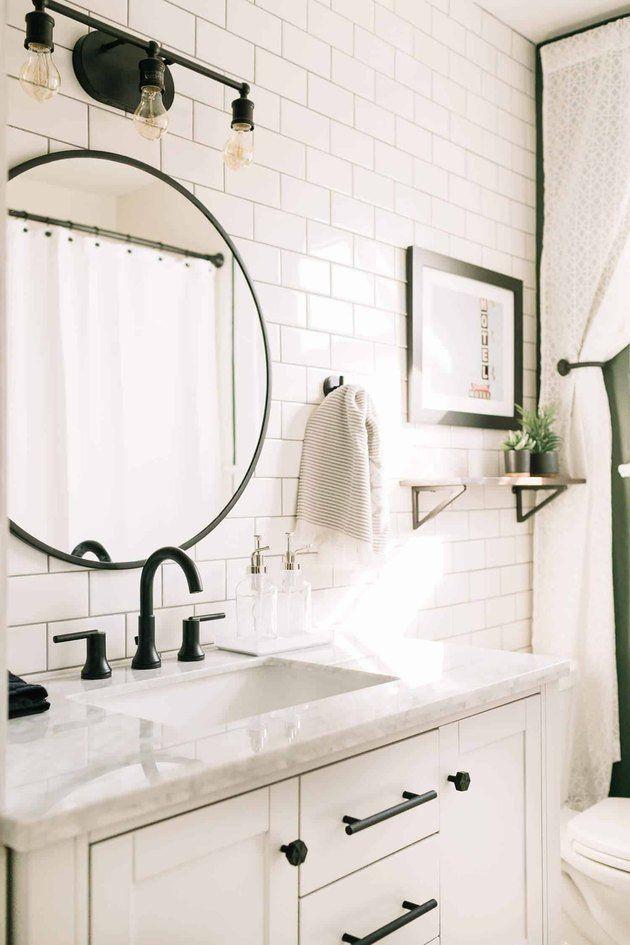 9 Bathroom Ceramic Tile Ideas For Your Walls Hunker Bathroom Makeover Ceramic Tile Bathrooms Bathrooms Remodel