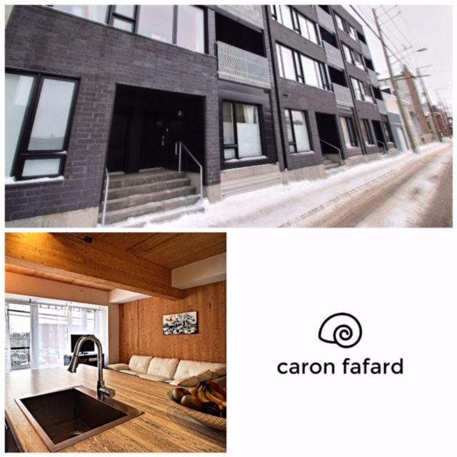 Superbe loft! 201-520 rue de la salle, Québec | Loft studio, parfait pied à terre ou garçonnière.  www.loft-nouvo-st-roch.ca