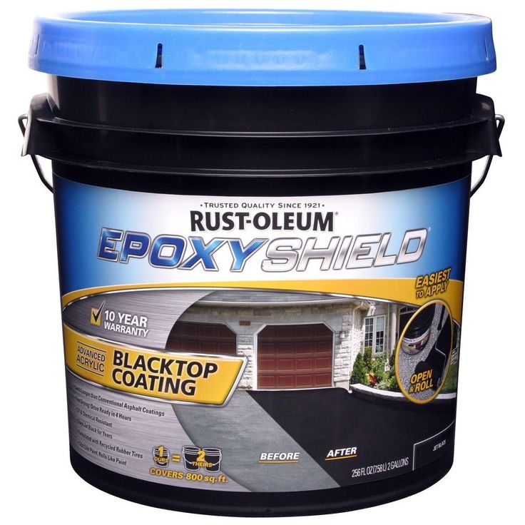 Rust Oleum Epoxyshield 3 5 Gal Blacktop Filler And Sealer Asphalt Driveway Repair Kitchen On A Budget Driveway Repair