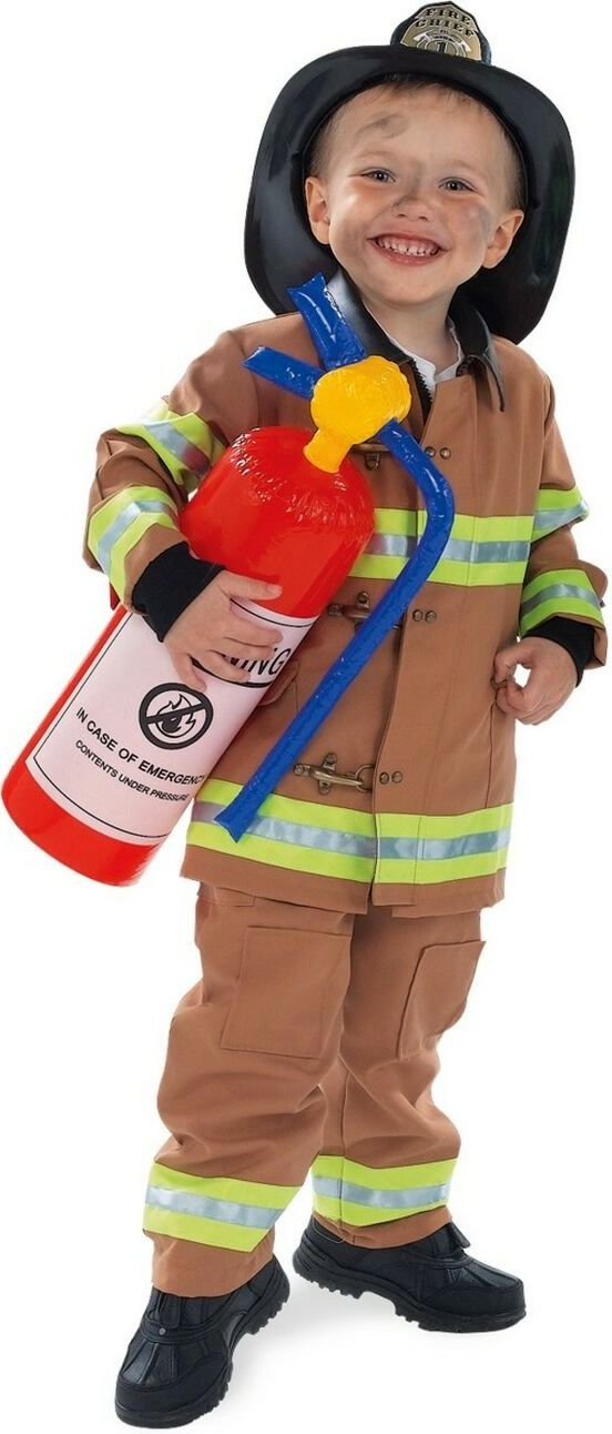 Tan Firefighter Halloween Costume - Kids Firefighter Costumes