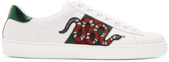 Gucci White Snake New Ace Sneakers #Gucci #sneakers #ShopStyle #MyShopStyle click link for more information