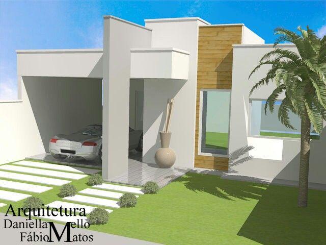 Fachada platibanda casa pinterest melhores ideias for Casas pequenas modernas minimalistas