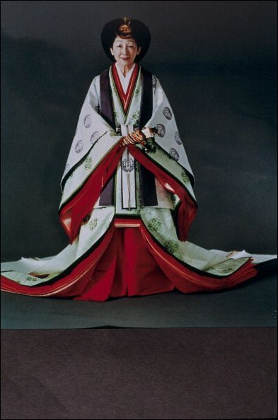 Empress Michiko In Traditional Dress In Japan On November 08, 1990 - Michiko in formal imperial court attire for the enthronement rite.
