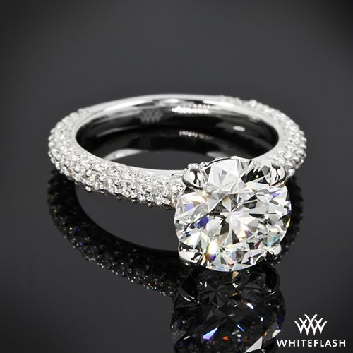 Elena Rounded Pave Diamond Engagement Ring 2.02ct A Cut Above Diamond
