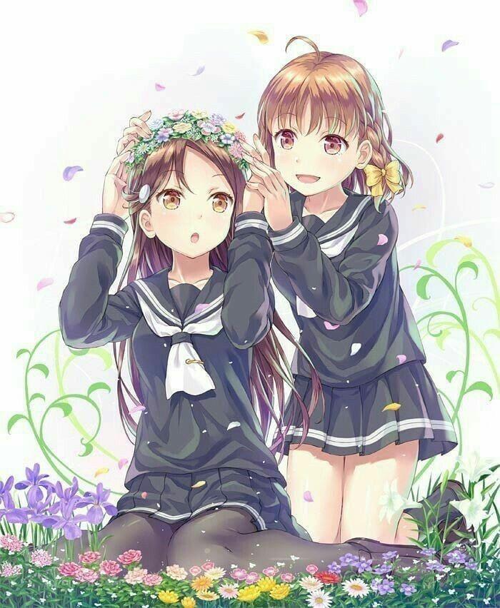 Hugedomains Com Anime Sisters Anime Best Friends Friend Anime Best friends anime wallpapers