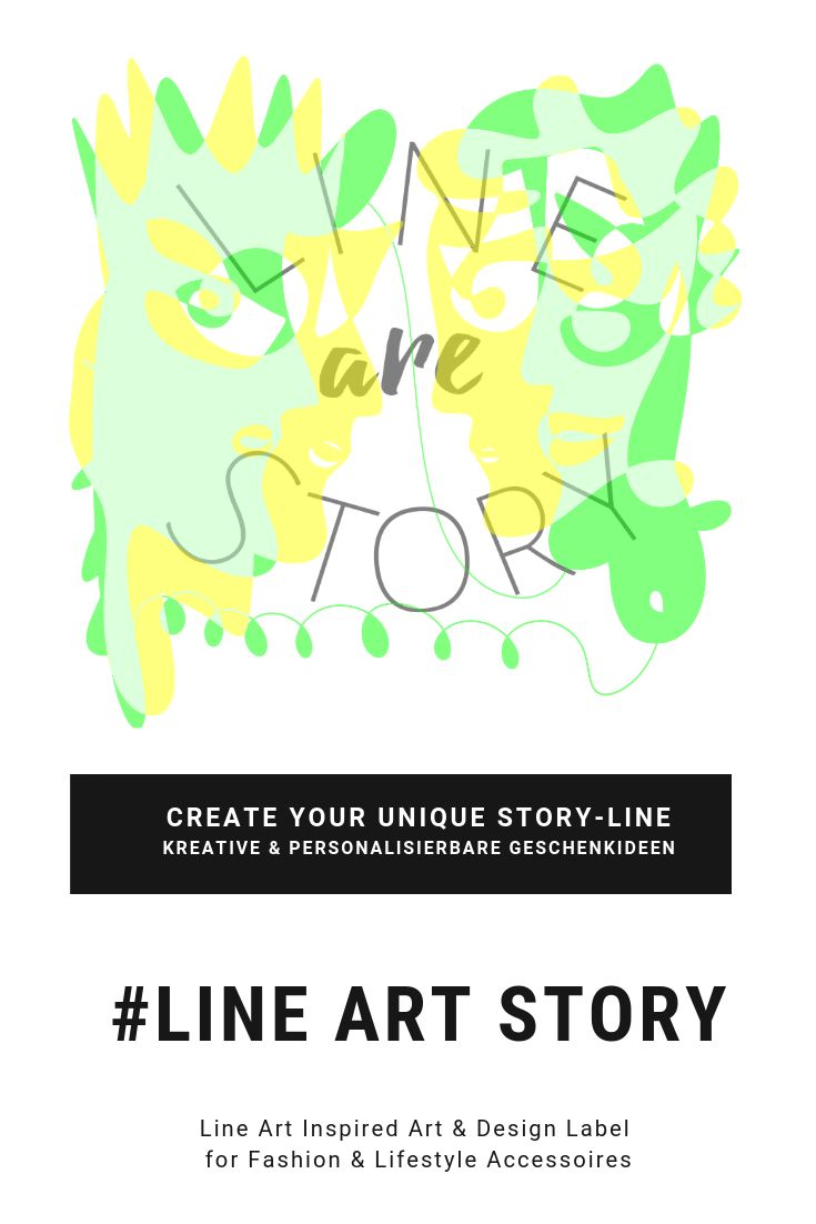 Line Art Story Label | Zu Viert im Line Art Stil