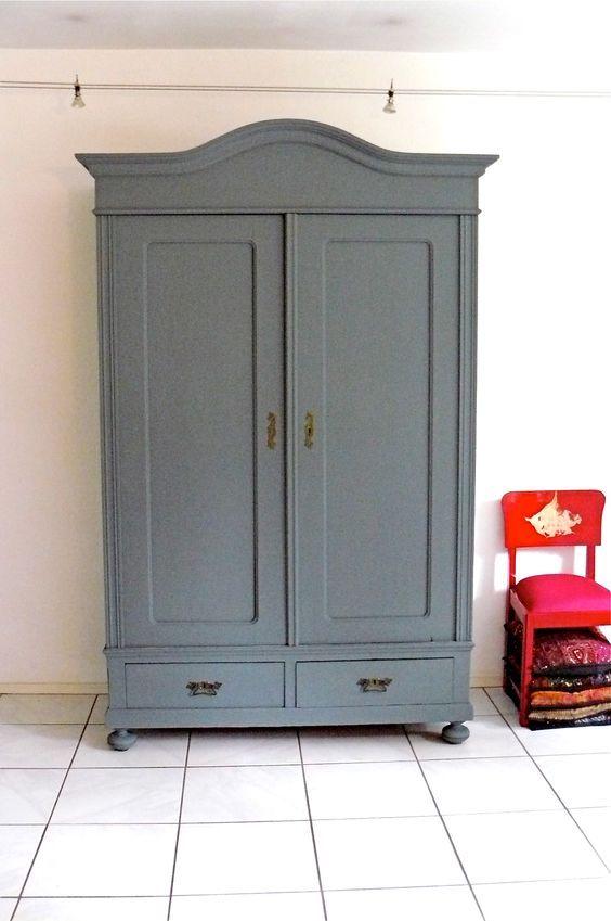 Möbel streichen mit Moose Färg matte Farbe. Einfach und schön.